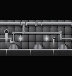 Grey seamless editable horizontal indoor vector