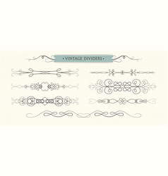 hand drawn flourishes dividers graphic high vector image vector image