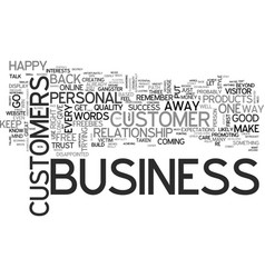 it is personal it s business text background word vector image vector image