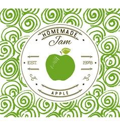 Jam label design template for apple dessert vector