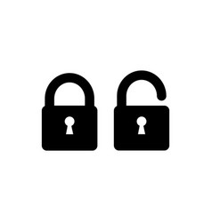 lock icon simple sign in flat style vector image