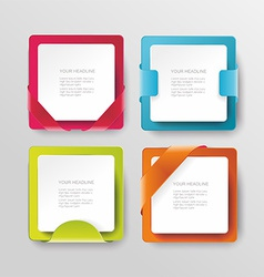 modern banners or frames element design Plastic vector image vector image