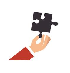 Puzzle pieces symbol vector