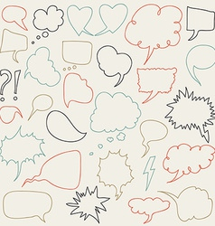 Set of comic speech bubbles vector image