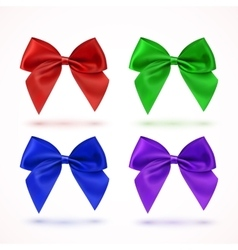 Set of four colorful bows vector image