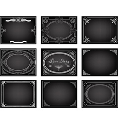 Set old movie frames vector image