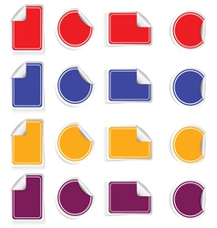 sticker set color vector image vector image