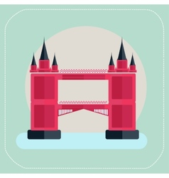 Tower Bridge London icon flat vector image vector image