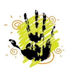hand print background design vector image
