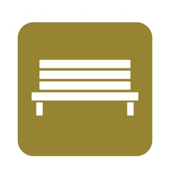 Outdoor park wooden bench icon vector