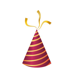 Birthday hat decoration vector
