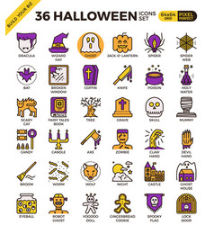 Spooky halloween icon vector