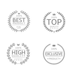 laurel wreath icons vector image