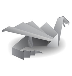 origami dragon isolated on white transparent vector image