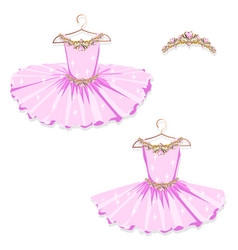 pink tutu on the hanger vector image