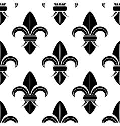 Black and white fleur de lys pattern vector