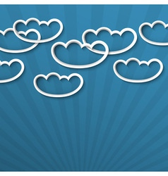 3d white clouds vector image vector image