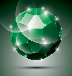 Party dimensional green sparkling disco ball vector