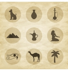 Set of icons of egypt vector