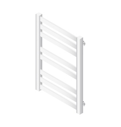 Heater towel rail isometric icon vector