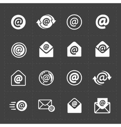 E-mail icons on Dark Background vector image