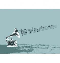 distressed gramaphone vector image