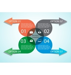 Infographic arrow business template vector image