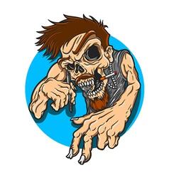 Artist Skull vector image vector image