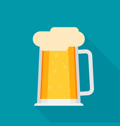 beer flat icon vector image vector image