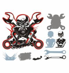 Bikers symbols set vector