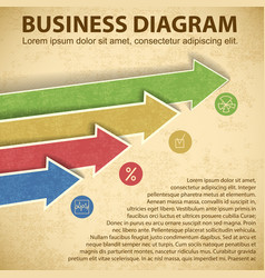 Business diagram template vector