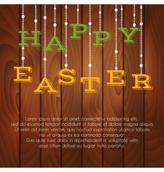 Easter greeting card with place for text vector image