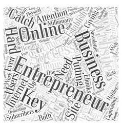 Entrepreneur website word cloud concept vector