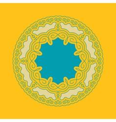Ethnic Circle Element Mandala Round Ornament vector image