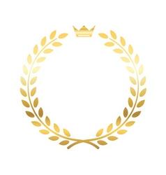 Gold laurel wreath crown vector