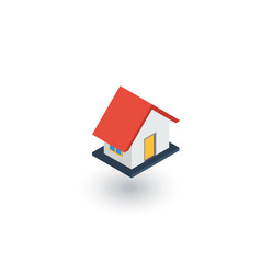 house isometric flat icon 3d vector image vector image