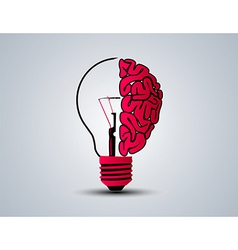 Idea brain bulb vector