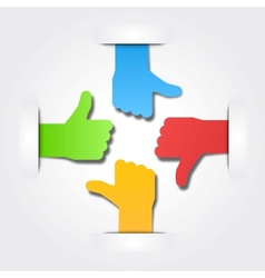 International thumbs of team background vector image