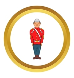 Man in a red jacket icon vector