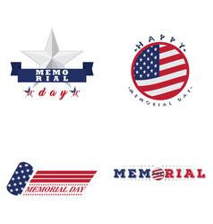 Memorial day emblems vector