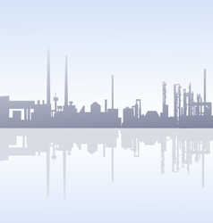 Morning Factory Skyline - vector image vector image