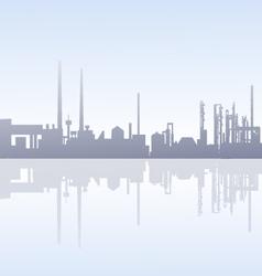 Morning factory skyline - vector