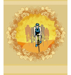 peloton - abstract retro card vector image vector image