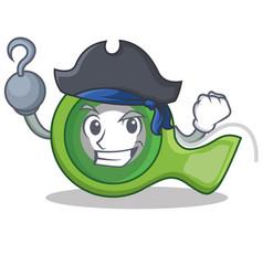 Pirate adhesive tape character cartoon vector