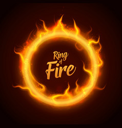 ring of orange fire with sparks procedural vector image