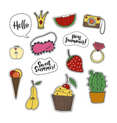 summer stickers vector image