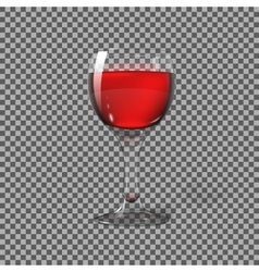 Transparent photo realistic isolated on plaid vector image vector image