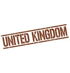 United kingdom brown square stamp vector