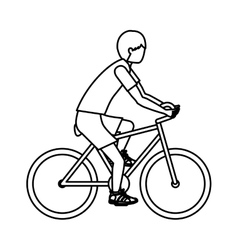 Boy riding bike design vector