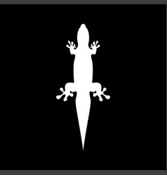 Lizard it is the white color icon vector